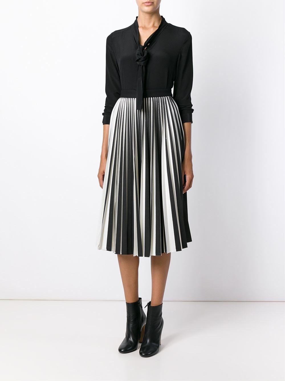 proenza schouler pleated midi skirt in black lyst