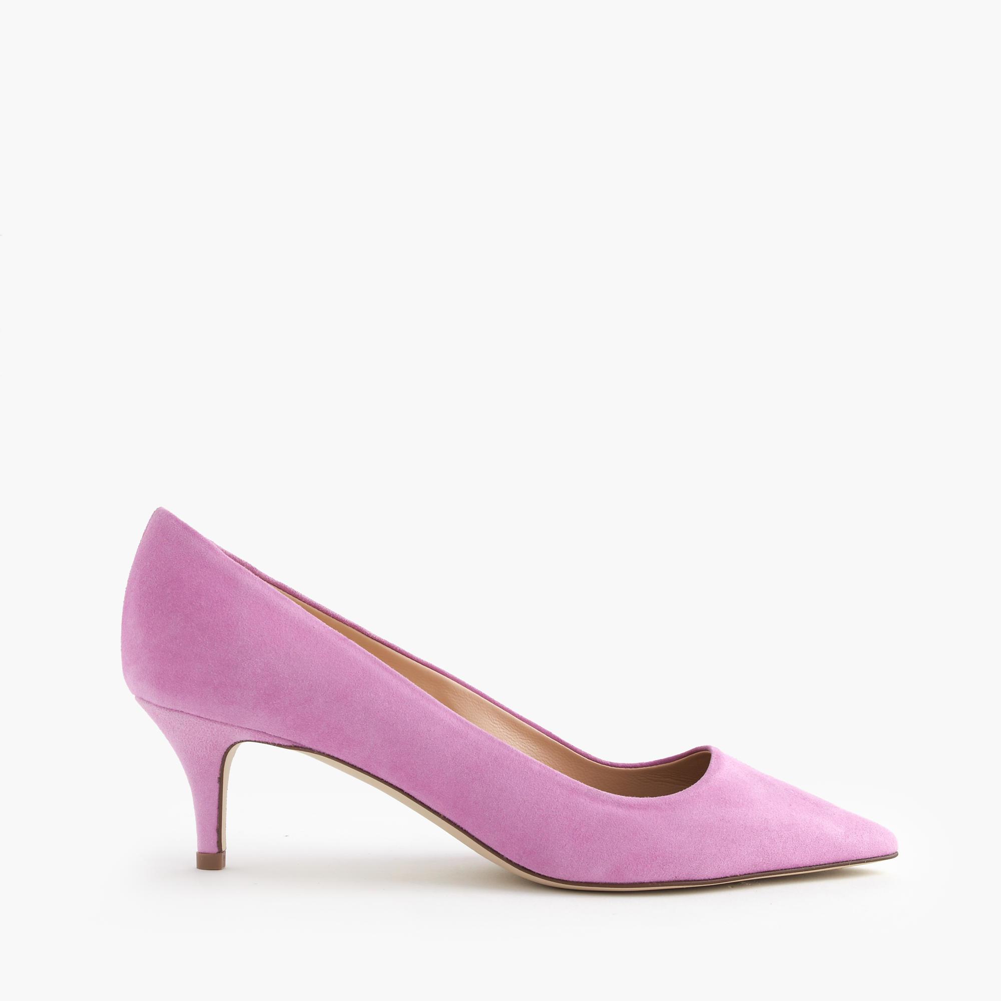 J.crew Dulci Suede Kitten Heels in Purple | Lyst