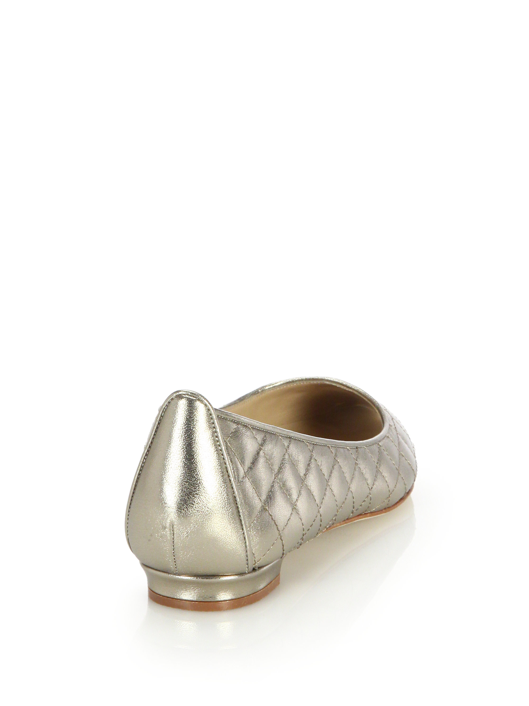 buy cheap from china Manolo Blahnik Metallic Quilted Flats for sale top quality outlet store locations jFBiVHTs
