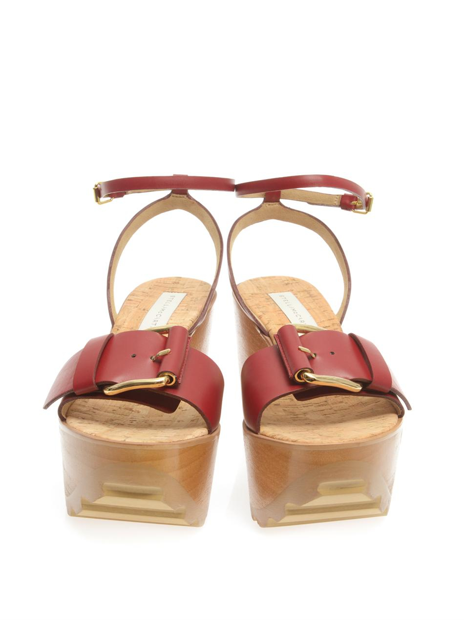 Wedge Sandals - Red Stella McCartney goe1g