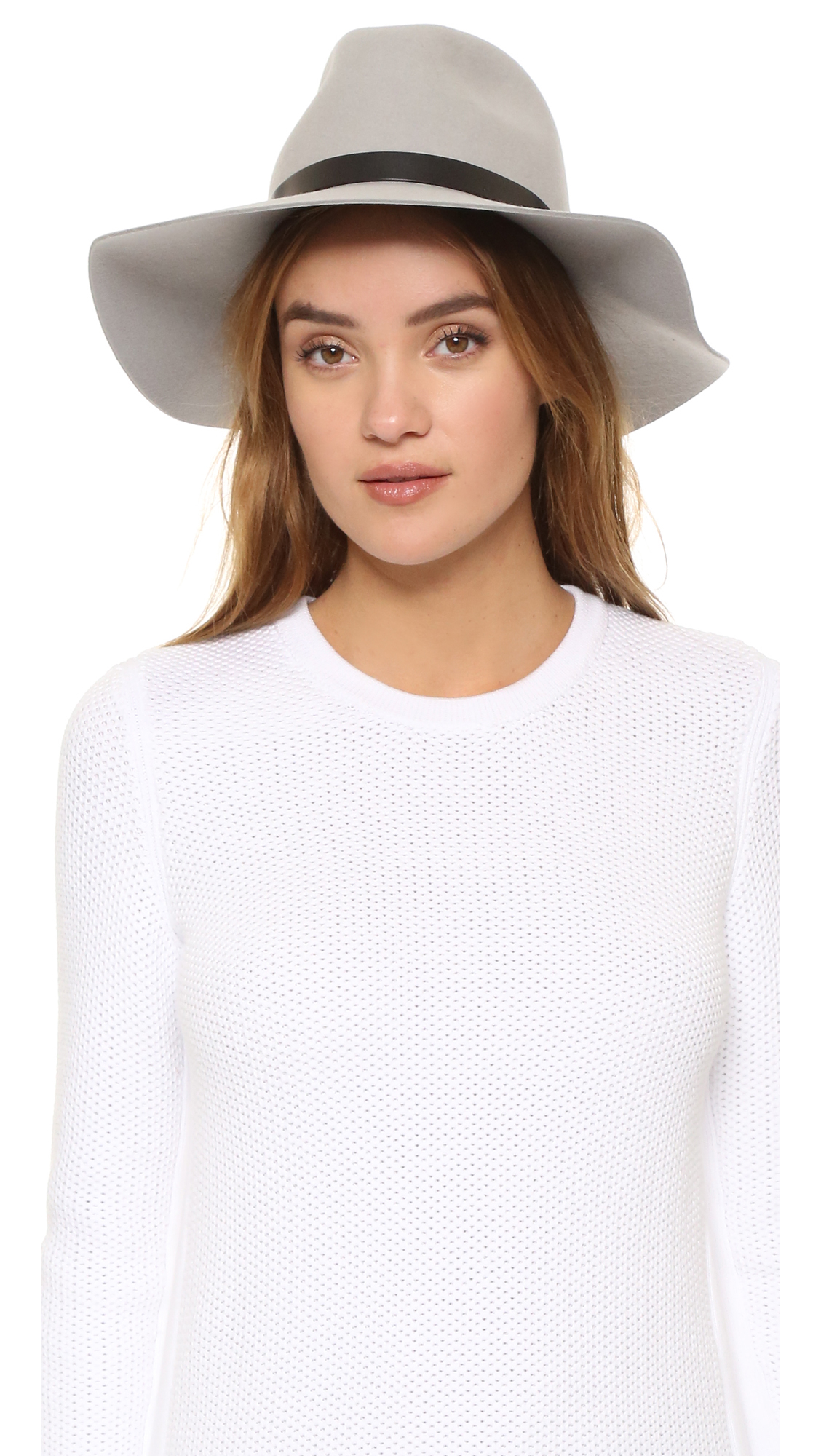 Rag   Bone Wide Brim Fedora in Gray - Lyst e538e395550