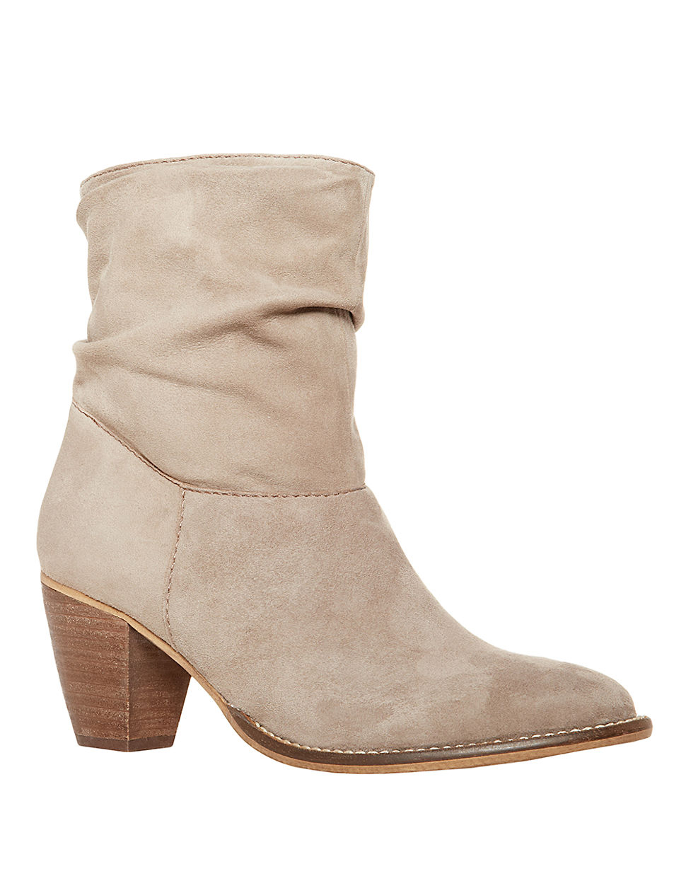 steven by steve madden welded suede high heel boots in