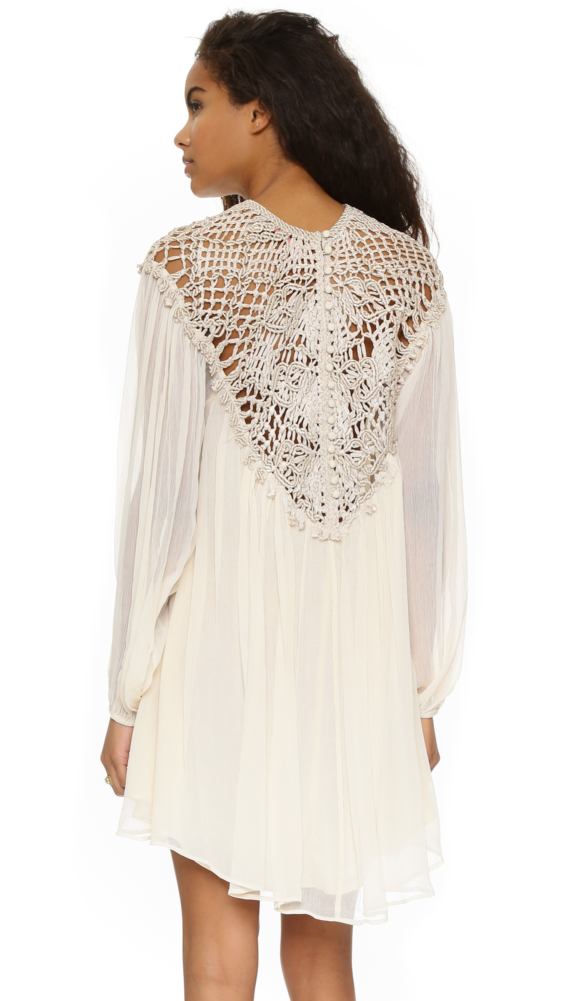 macrame clothes free macrame mini dress in brown lyst 411
