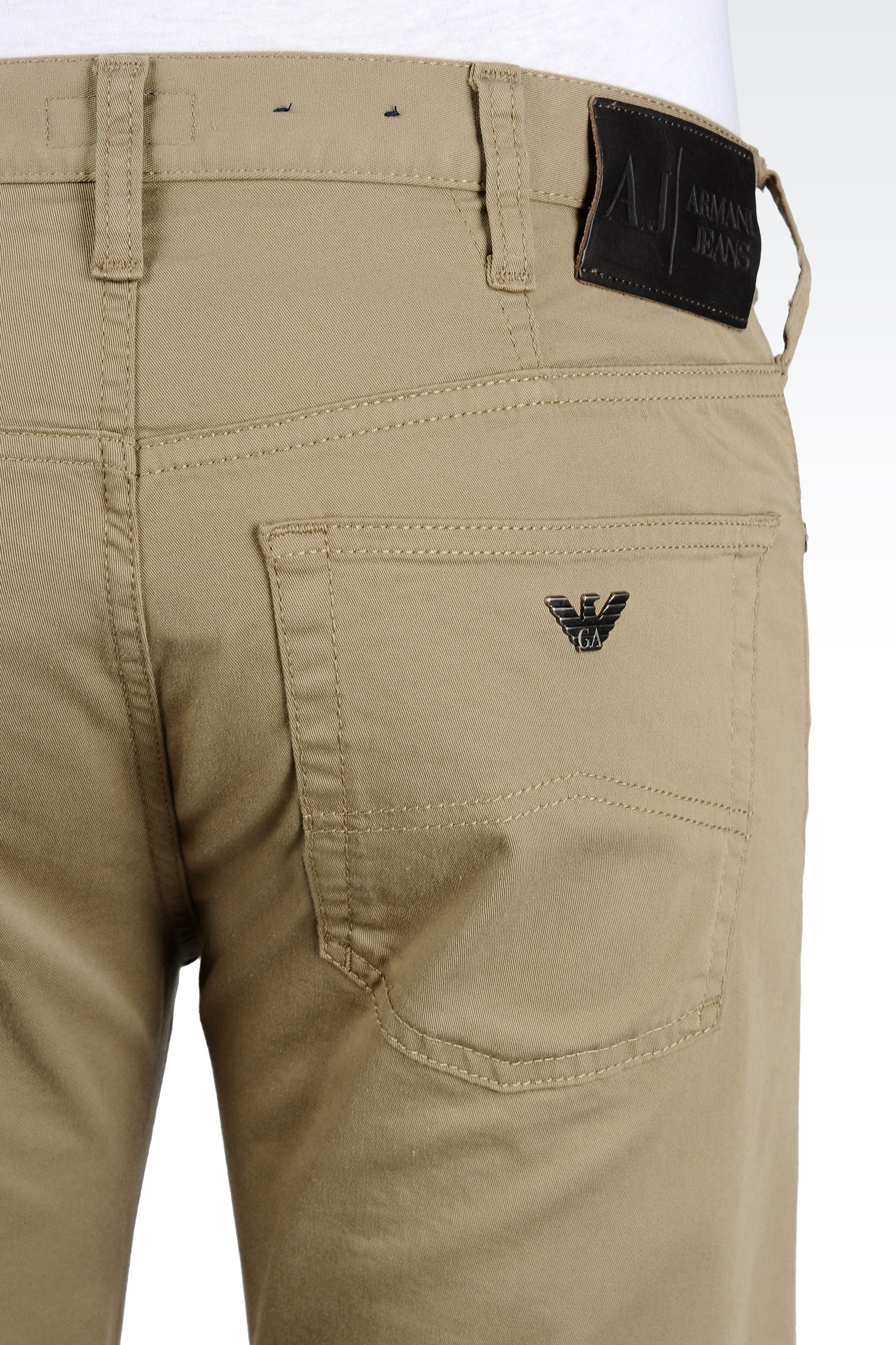 59393d16 Armani Jeans 5-Pocket Trousers In Stretch Gabardine in Natural for ...