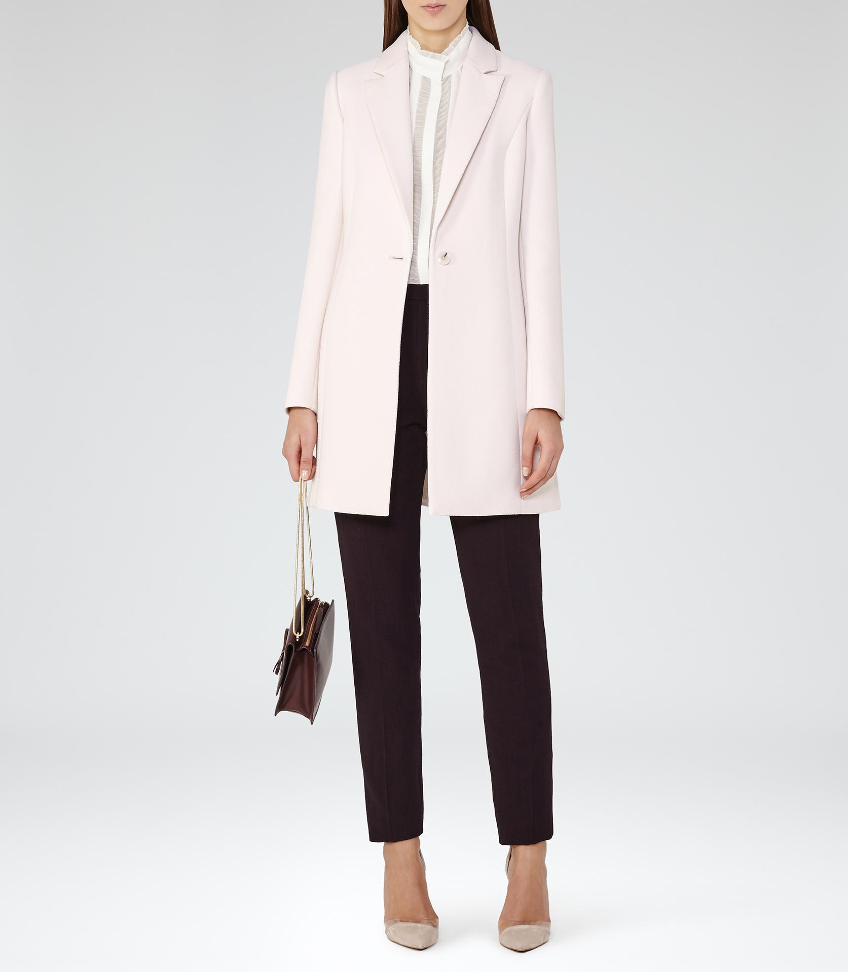 Reiss Argento Longline Tailored Coat in White | Lyst