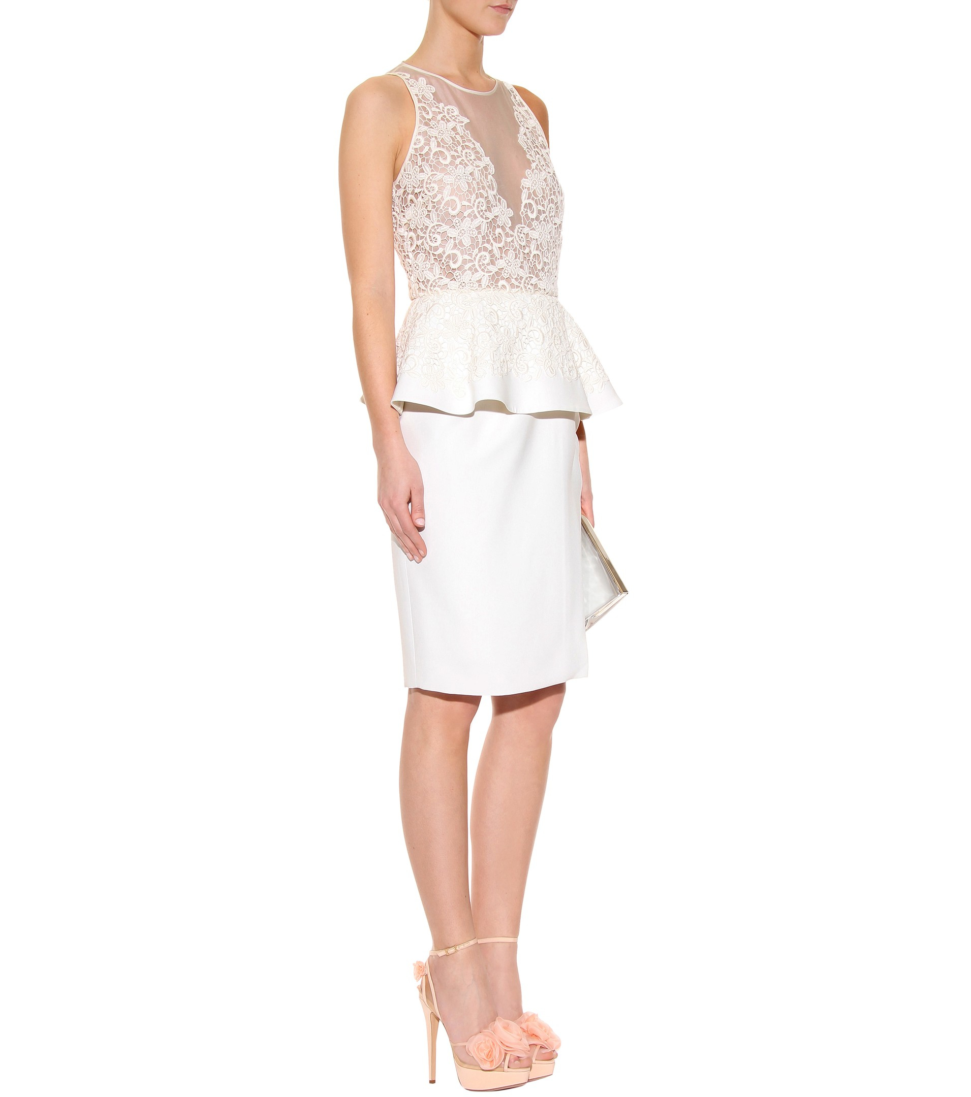 Giamba lace peplum blouse Free Shipping Looking For Cheap How Much Clearance Low Price New Arrival For Sale qXnH7