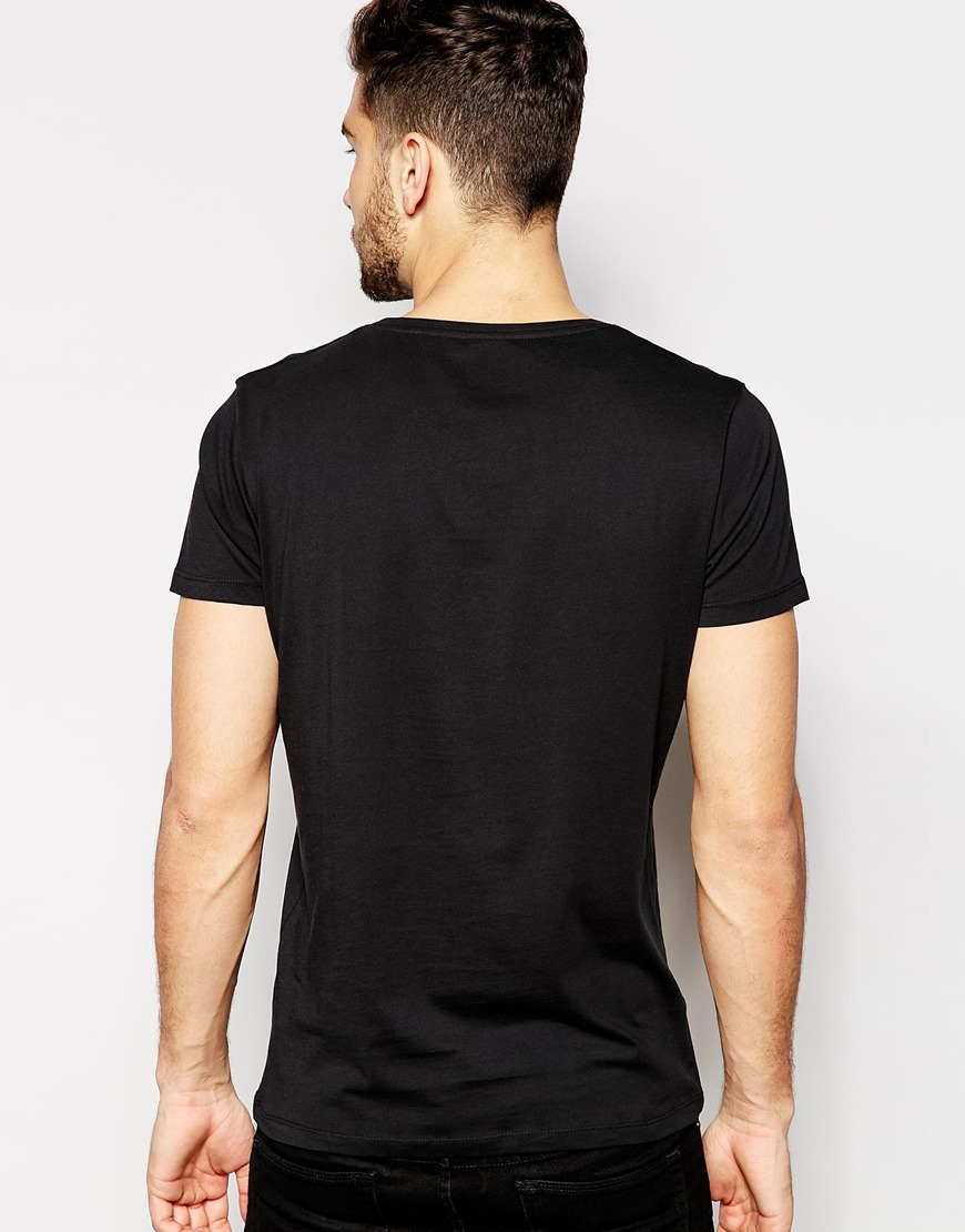 Lyst selected crew neck t shirt in pima cotton in black for Pima cotton crew neck t shirt