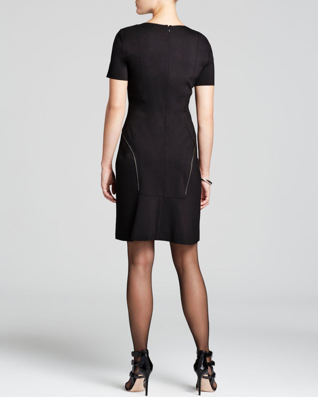Elie Tahari Bentley Zip Seam Dress In Black