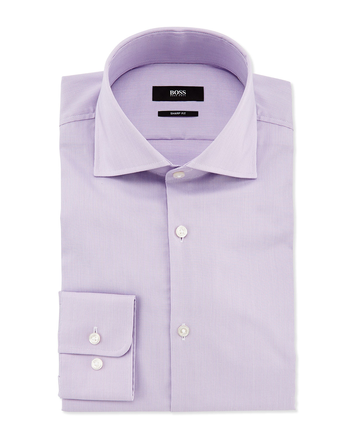 Lyst boss sharp fit miles narrow stripe dress shirt in Light purple dress shirt men