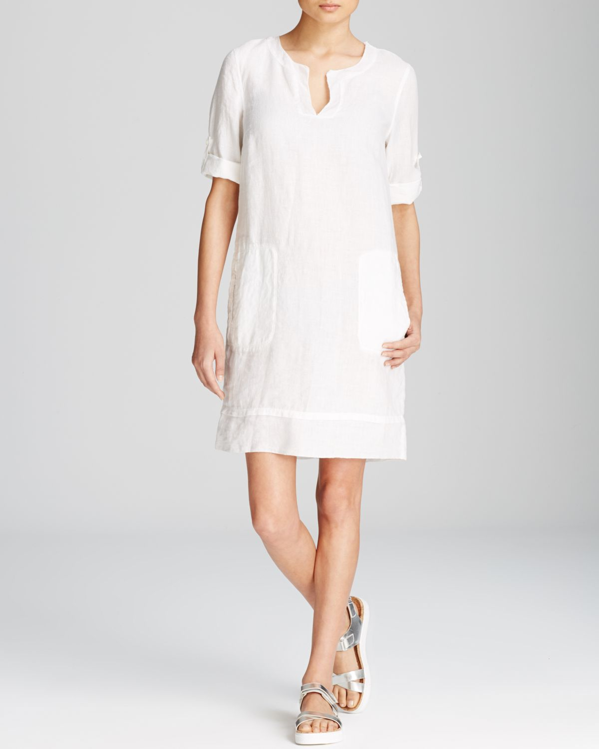 a99f7feb6a2 Gallery. Previously sold at  Bloomingdale s · Women s Tunic Dresses Women s White  Linen ...