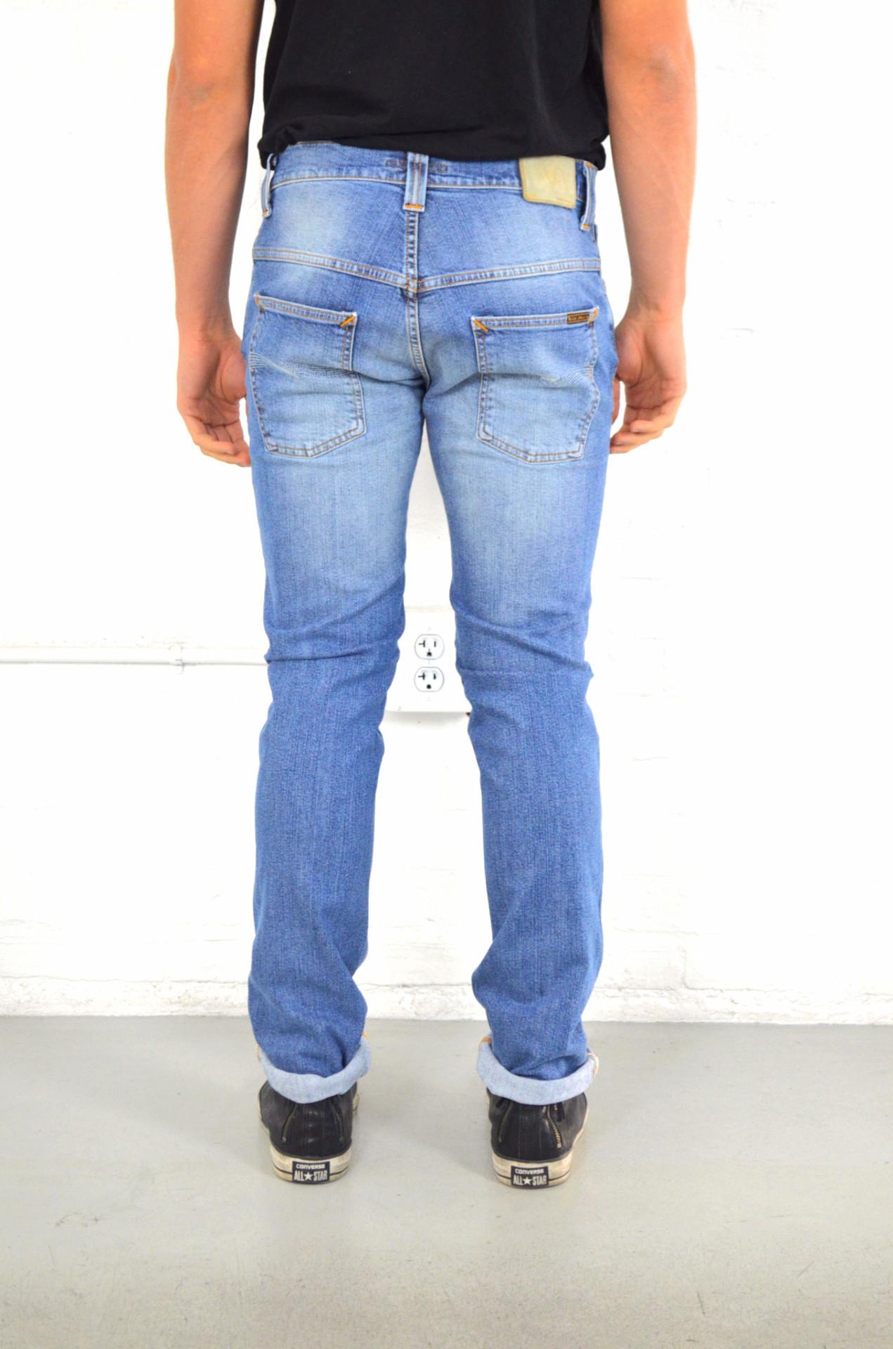 nudie jeans thin finn tender blues in blue for men lyst. Black Bedroom Furniture Sets. Home Design Ideas