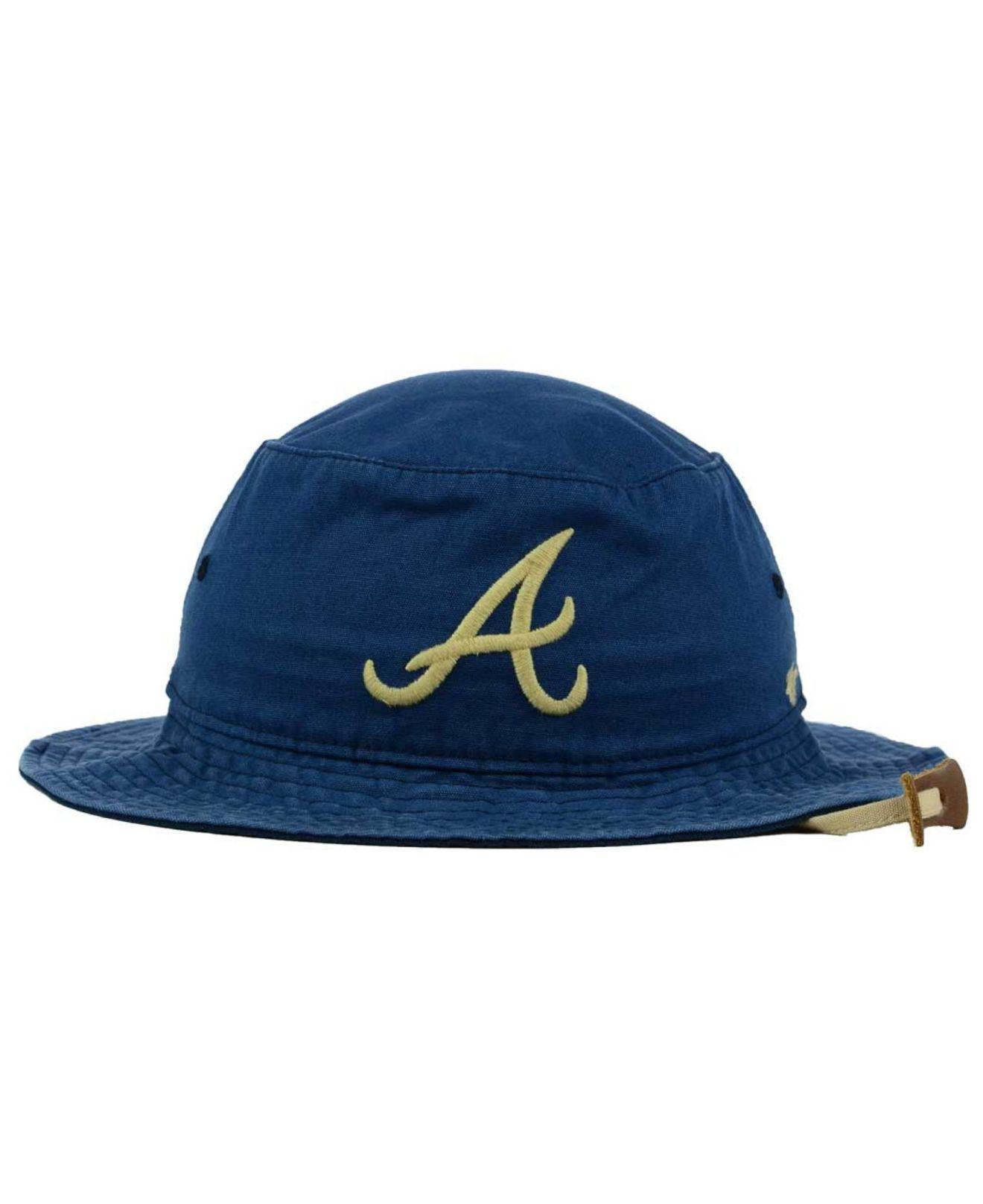 official photos 55db0 26f30 Lyst - 47 Brand Atlanta Braves Fever Dog Bucket Hat in Blue