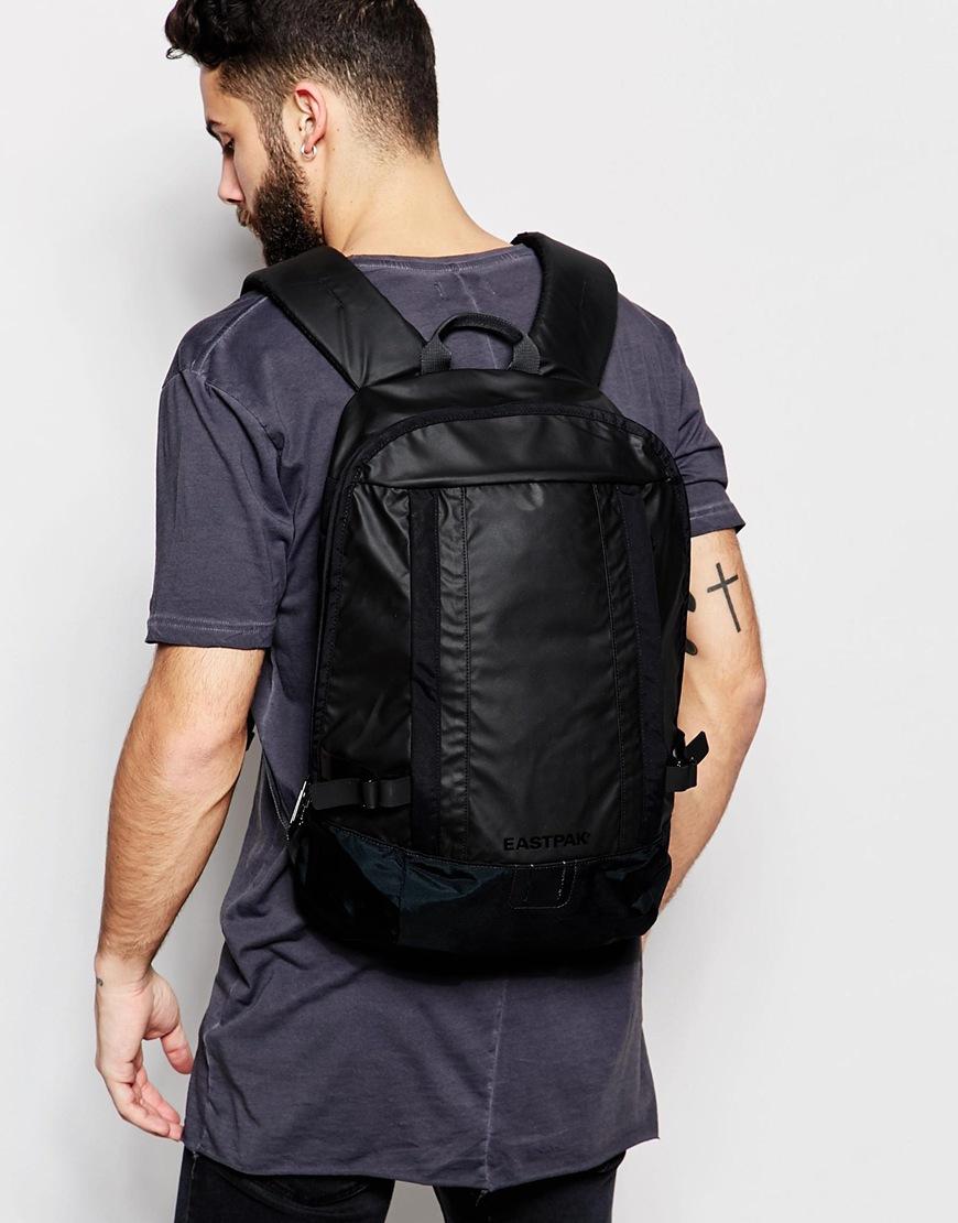 Black leather gloves asos - Eastpak Mitchum Backpack In Black For Men Lyst