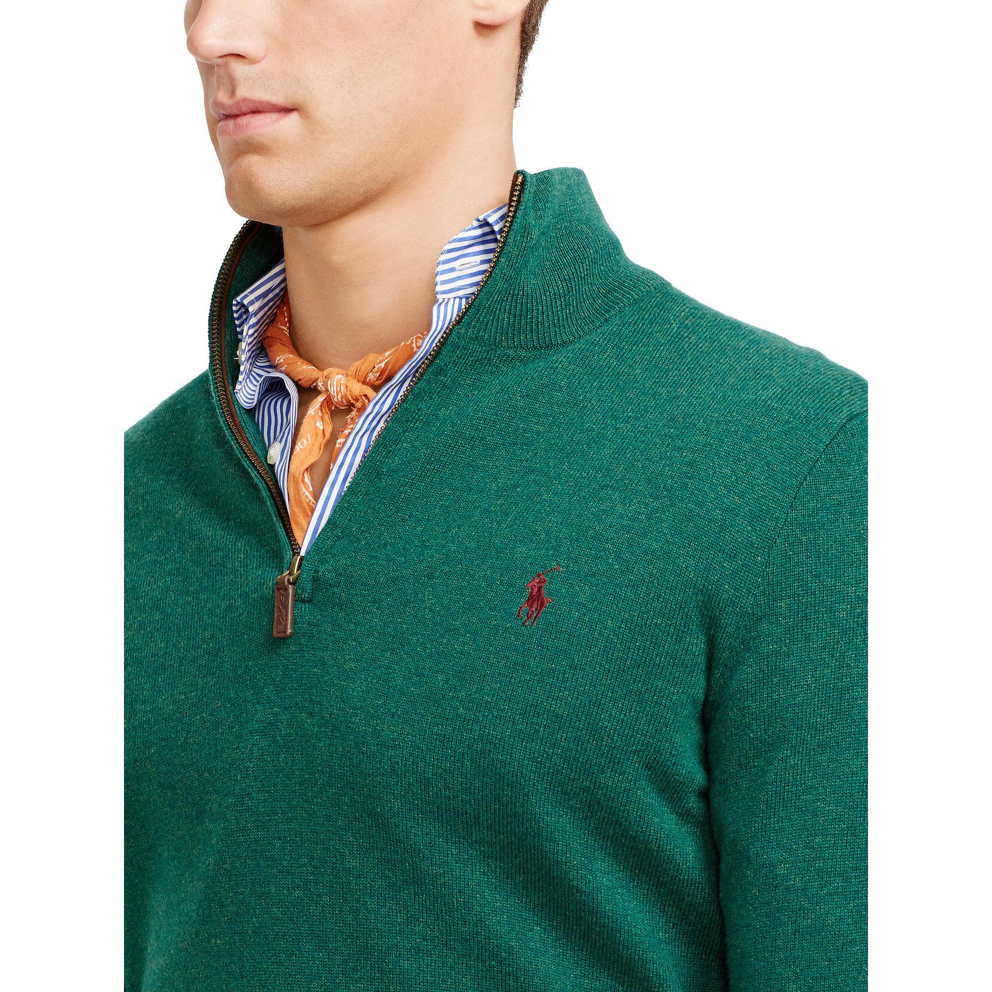 ralph lauren polo 1 2 zip sweater .