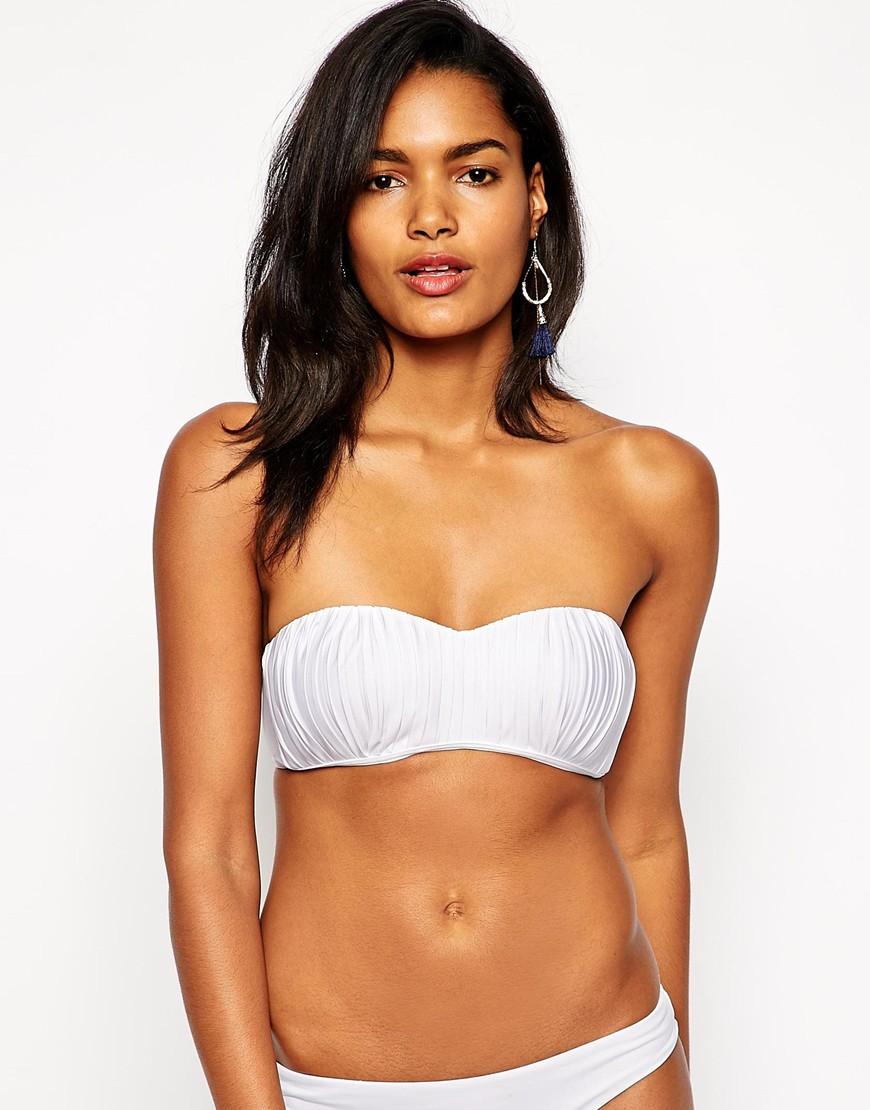 c982aa3da5 Lyst - Seafolly Goddess Kiara Bustier Bikini Top in White