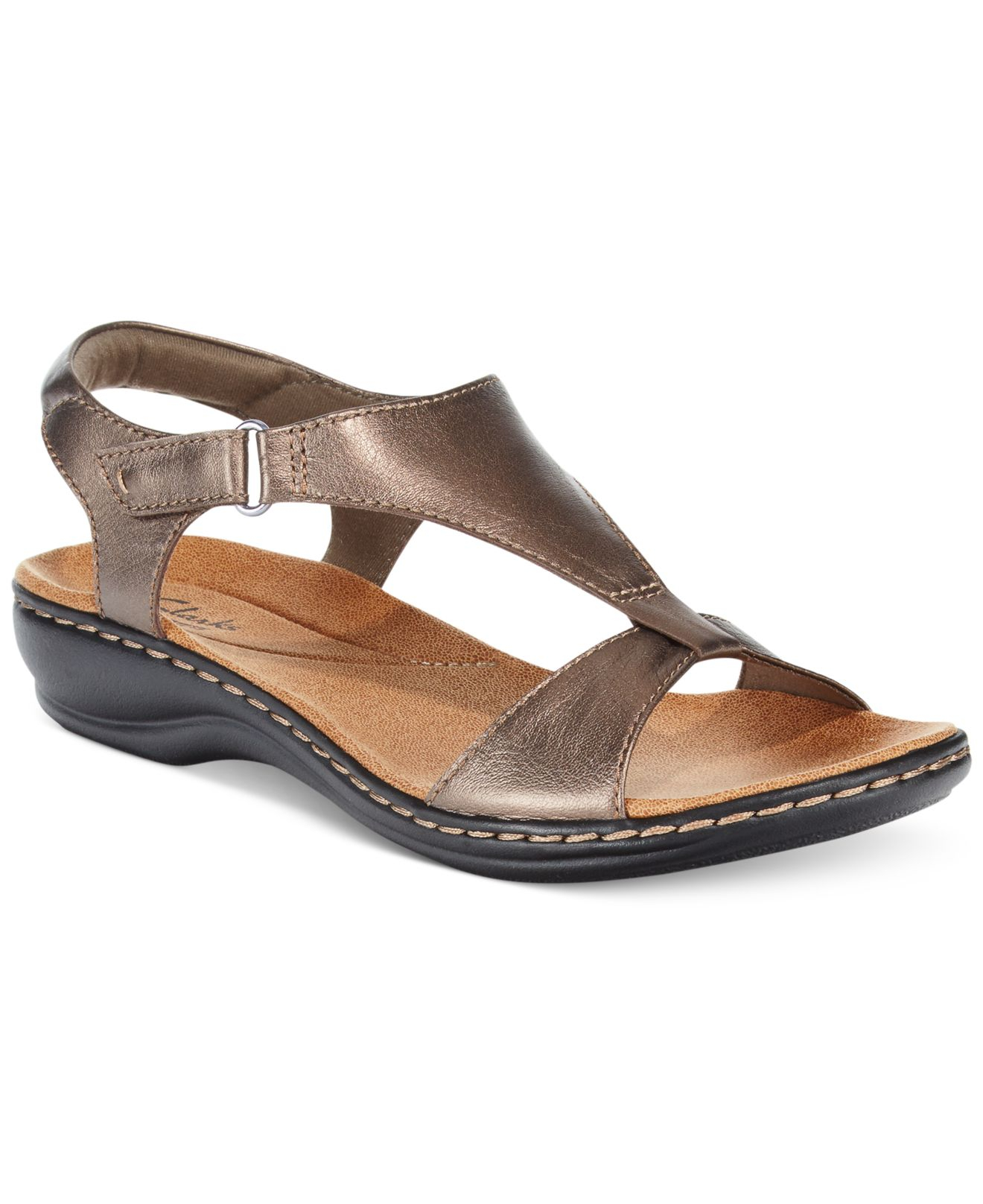 Model Lyst - Clarks Collection Womenu0026#39;s Wendy Estate Two-piece Sandals In Black