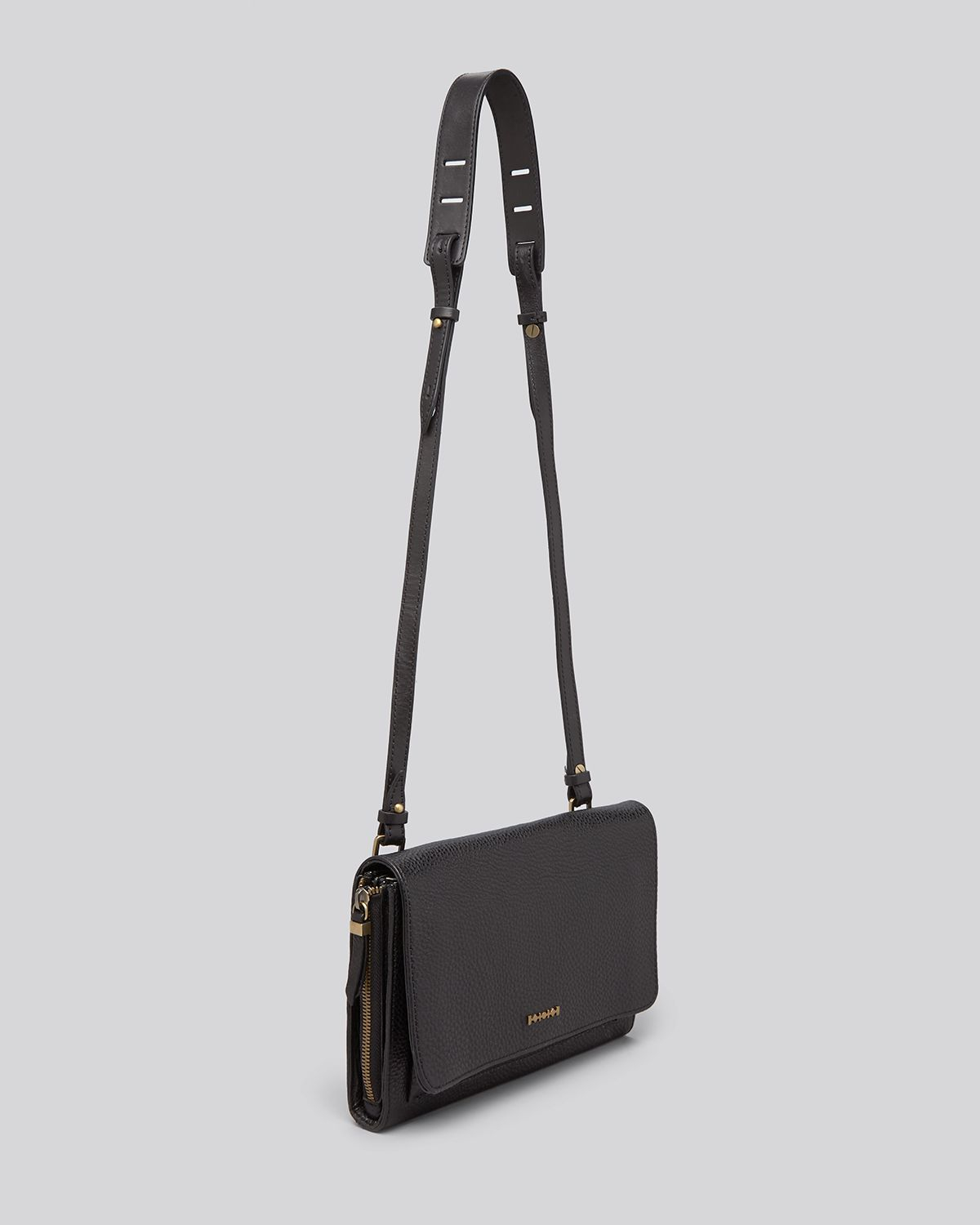 hot product best authentic new style of 2019 McQ Black Crossbody Zip Convertible Clutch