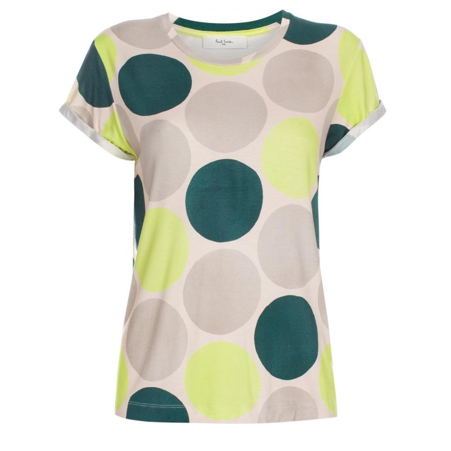 Lyst paul smith women 39 s 39 ink spot 39 print t shirt in yellow for Ink spot t shirts