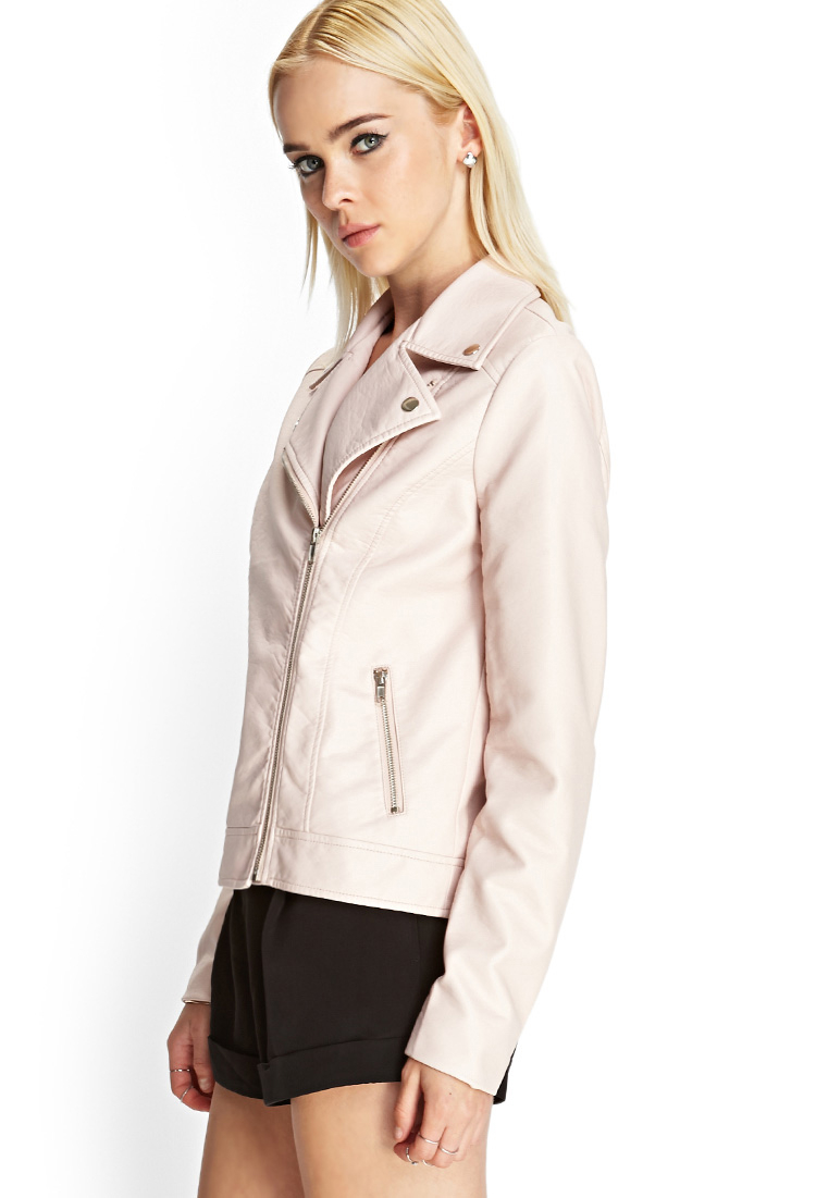 Find great deals on eBay for Pink Leather Jacket in Coats and Jackets for the Modern Lady. Shop with confidence. Find great deals on eBay for Pink Leather Jacket in Coats and Jackets for the Modern Lady. Apt 9 Very Light Pink Faux Leather Moto Jacket XL. $ 11 bids. purchased never worn My loss your gain I combine shipping No returns.