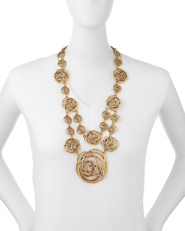 Dot Gold-Tone Necklace Oscar De La Renta 8W3tsI86