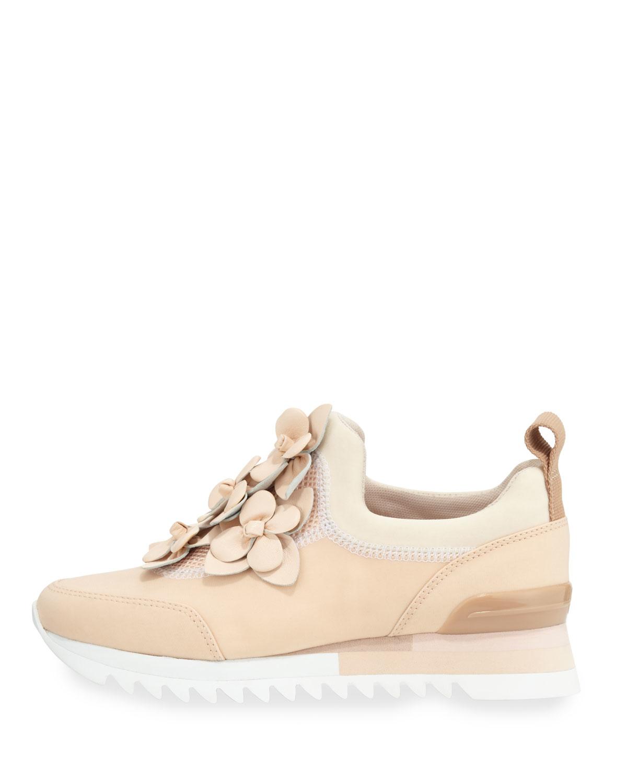 af5a5a705eeea Lyst - Tory Burch Blossom Neoprene Sneaker in Pink