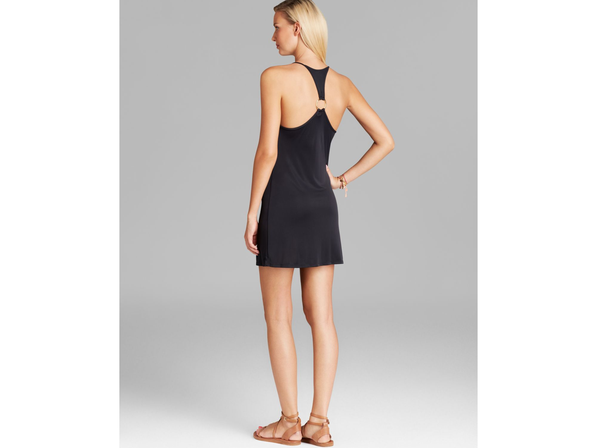0f80273ad5d Lyst - Cia.Marítima Jersey Cowlneck Swim Cover Up Dress in Black