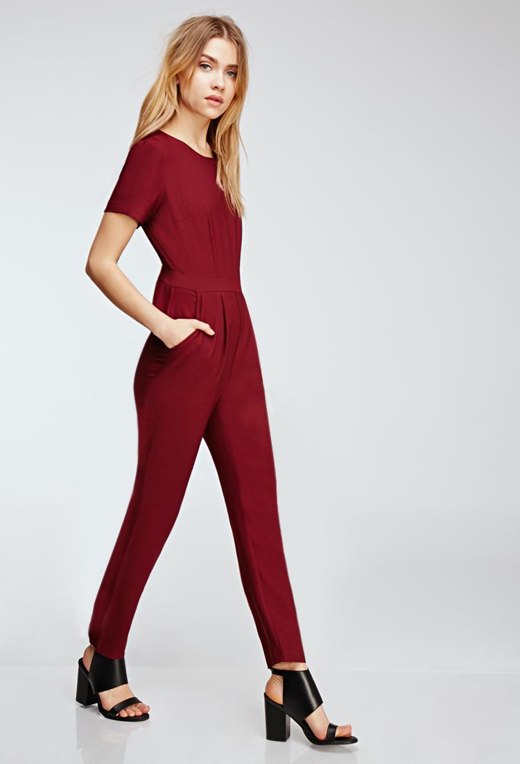 1dc03bce1ef Forever 21 Short-sleeved Crepe Jumpsuit You've Been Added To The ...