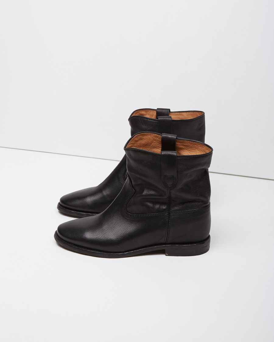 toile isabel marant cluster leather ankle boots in black lyst. Black Bedroom Furniture Sets. Home Design Ideas