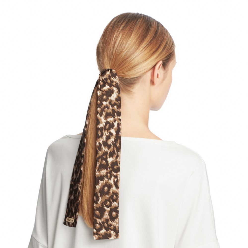 Lyst Coach Madison Ocelot Ponytail Scarf