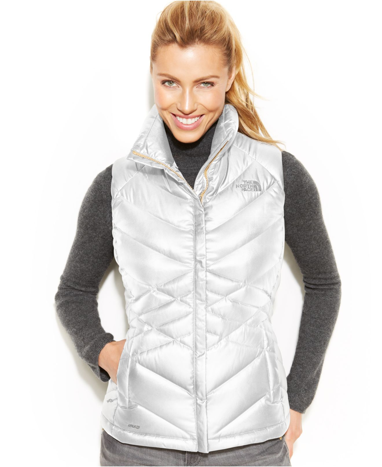 d8e96ae851ed Gallery. Previously sold at  Macy s · Women s The North Face Denali Women s  Metallic Leather Jackets ...