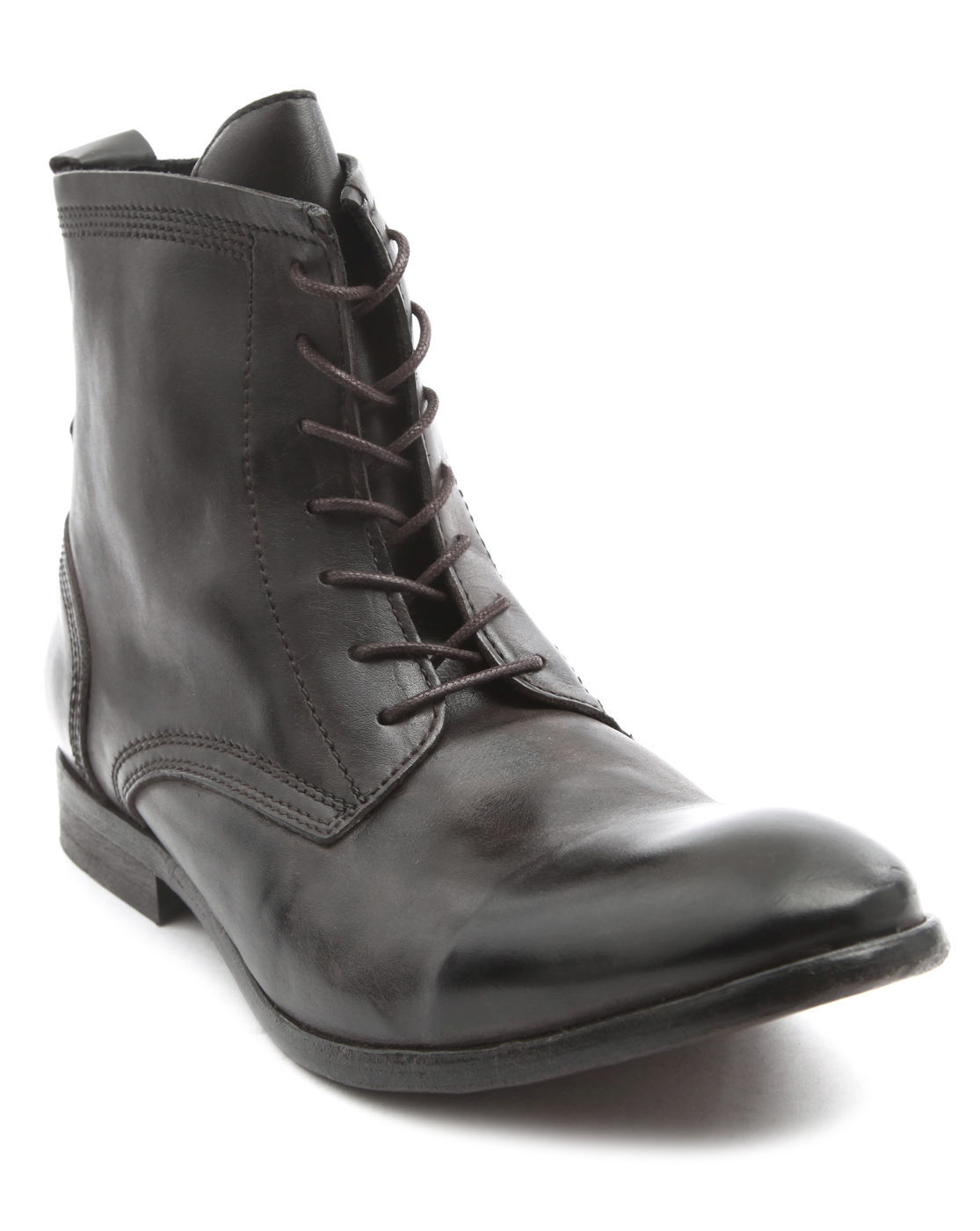 hudson swathmore black leather boots in black for lyst