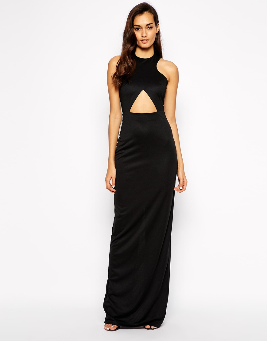 85f7358039 Lyst - AQ AQ Monica Maxi Dress With Keyhole Cut Out in Black