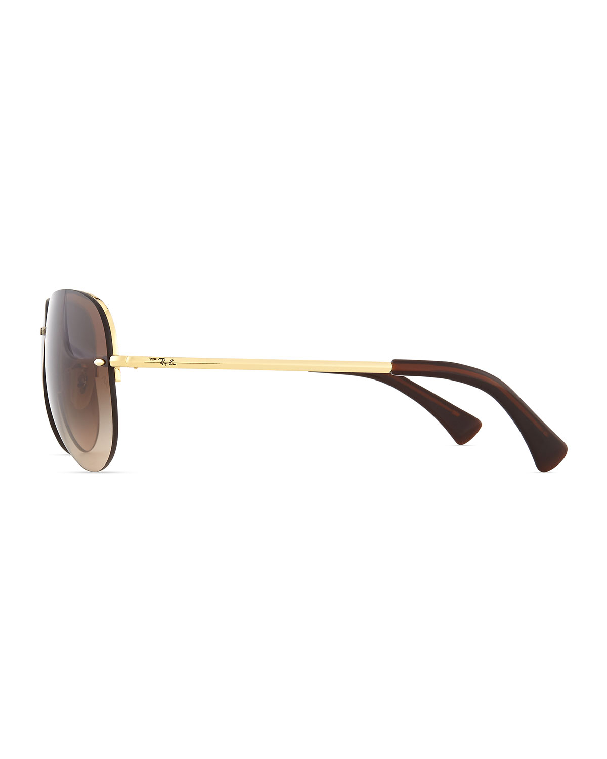 Rimless Aviator Eyeglass Frames : Ray-ban Semi-rimless Aviator Sunglasses in Metallic for ...