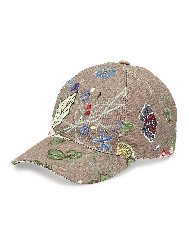 c44024ba06e9 Lyst - Gucci Flora-print Baseball Hat in Natural