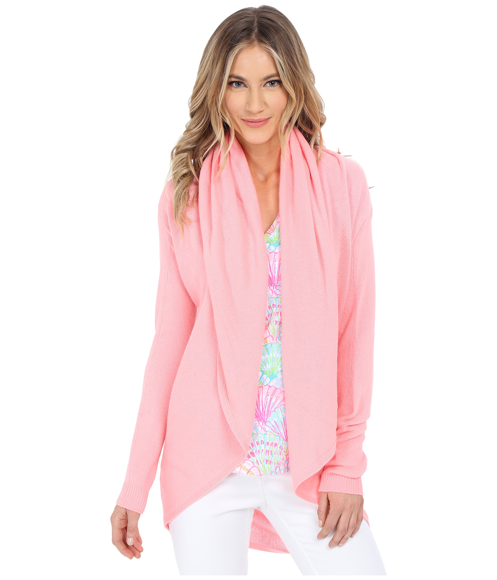 Lyst - Lilly Pulitzer Hayden Cashmere Cardigan in Pink ea31a7031