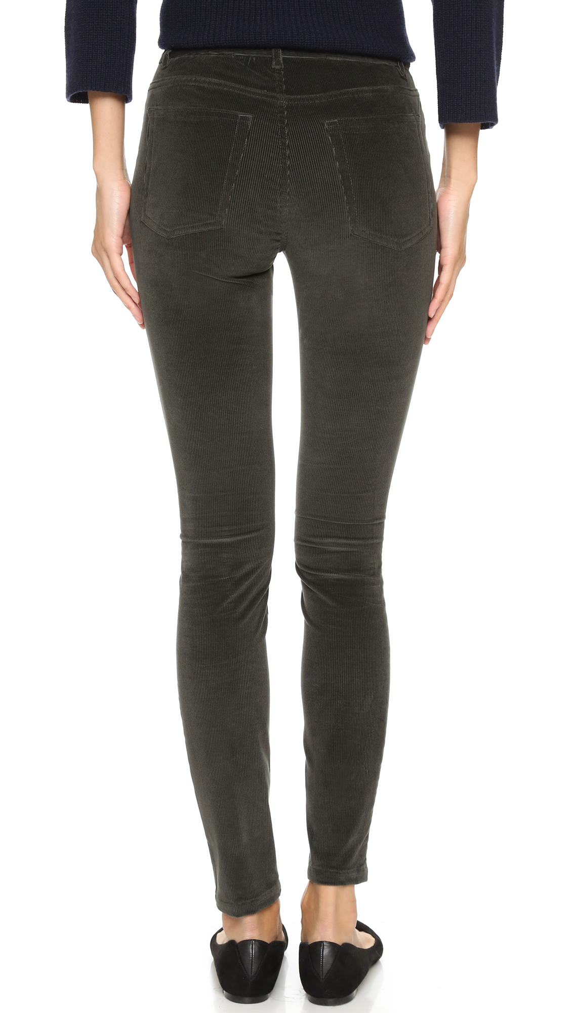 087291f9 A.P.C. High Standard Corduroy Pants in Gray - Lyst