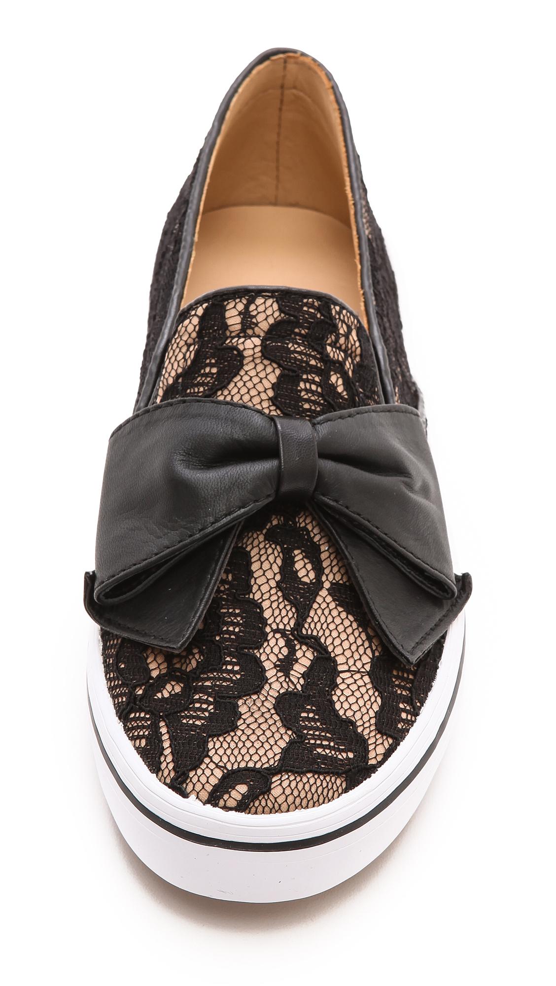Lyst Kate Spade New York Delise Bow Slip On Sneakers