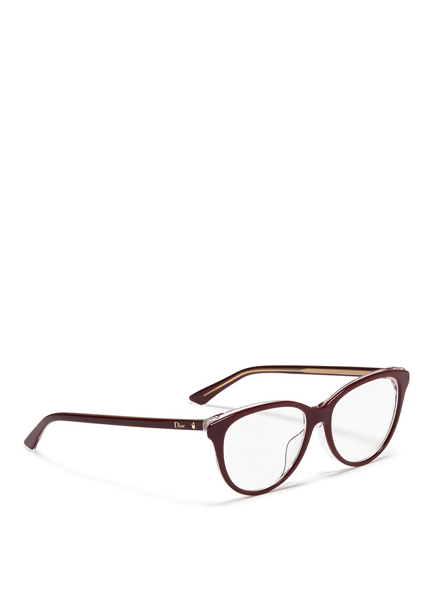 5d15644c943 Dior  montaigne  Acetate Cat Eye Optical Glasses in Purple - Lyst