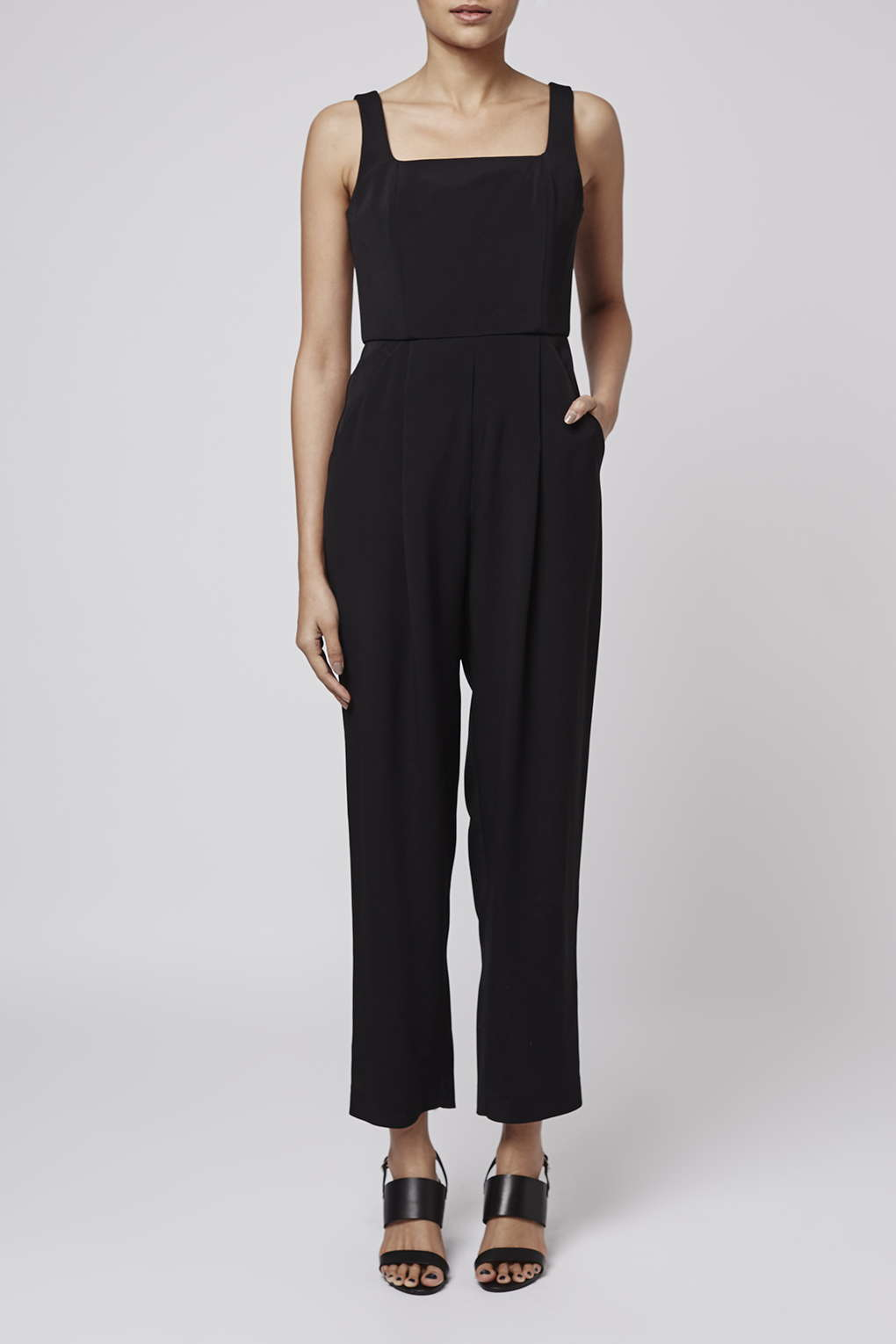 340be514cbe2 Lyst - TOPSHOP Crepe Jumpsuit By Boutique in Black