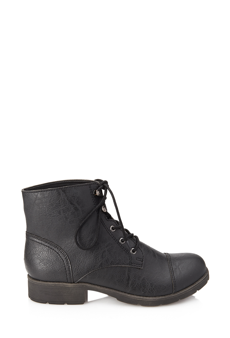 forever 21 textured faux leather hiking boots you ve been