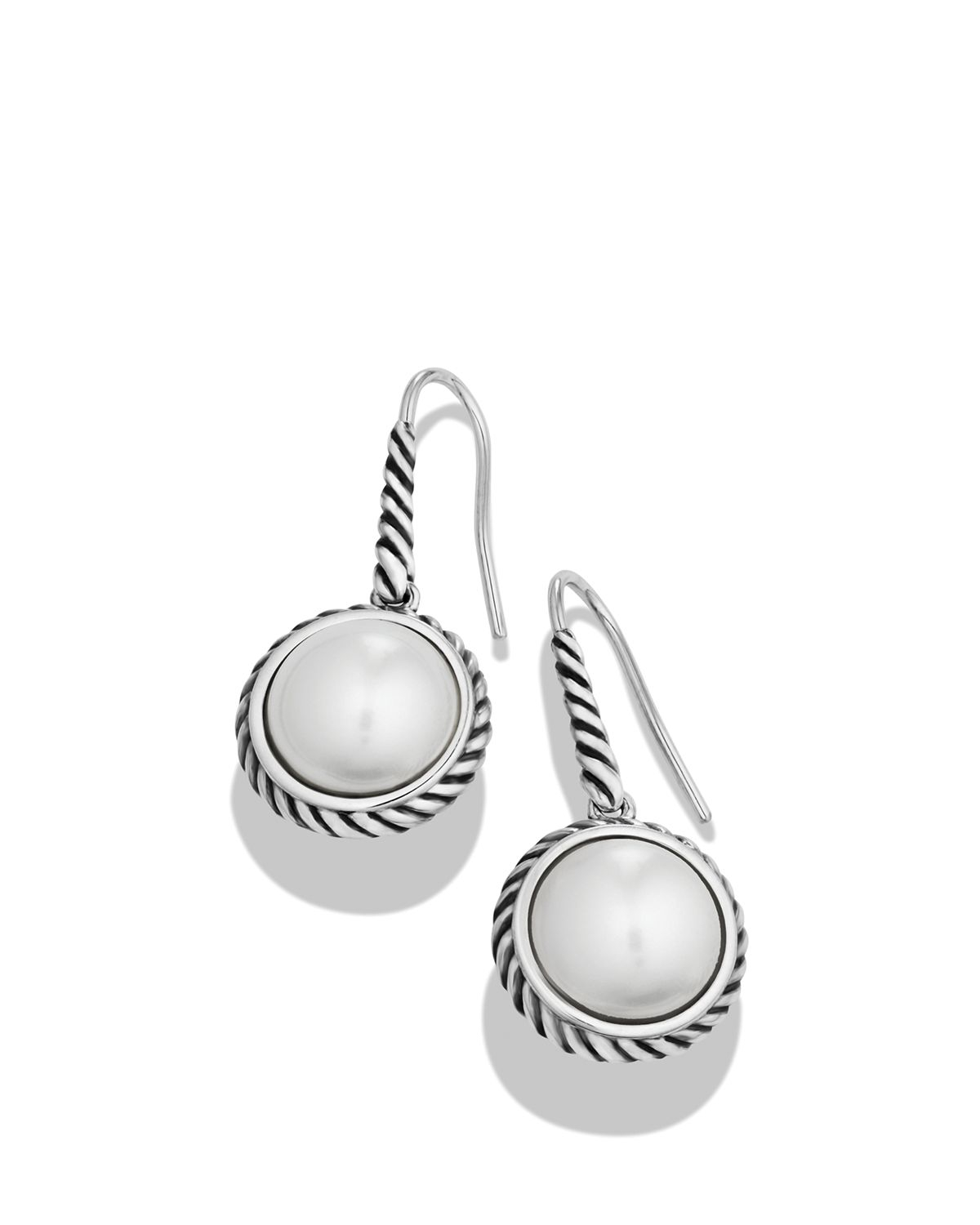 Lyst David Yurman Cable Wrap Drop Earrings With Pearls