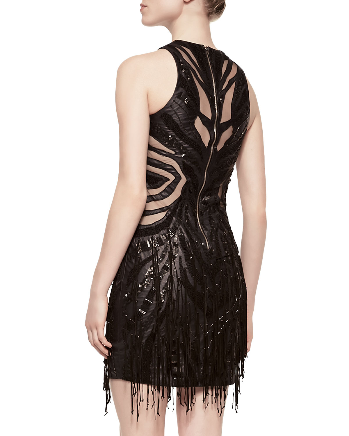 Cut Out Fringe Dress
