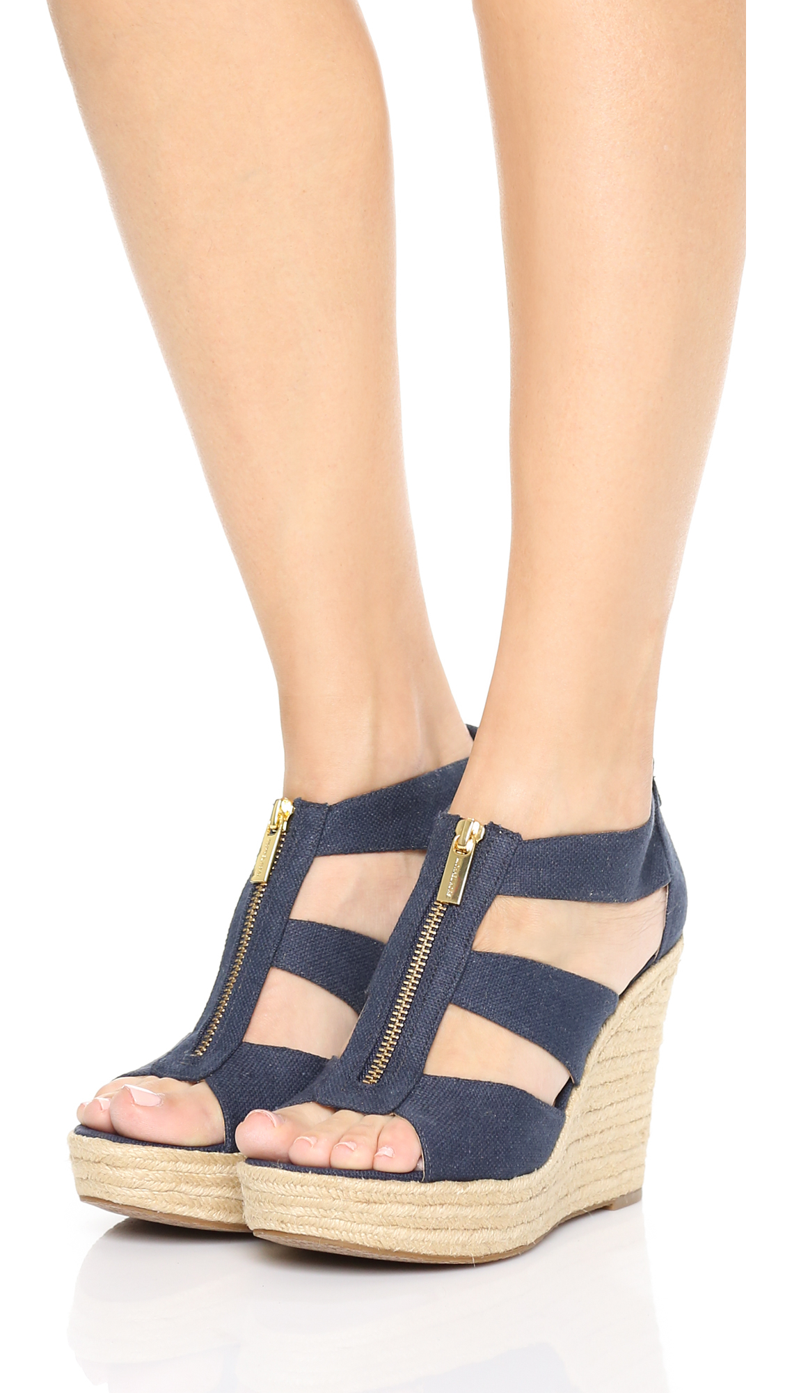 ec57ee0385d8 MICHAEL Michael Kors Damita Wedge Sandals in Blue - Lyst