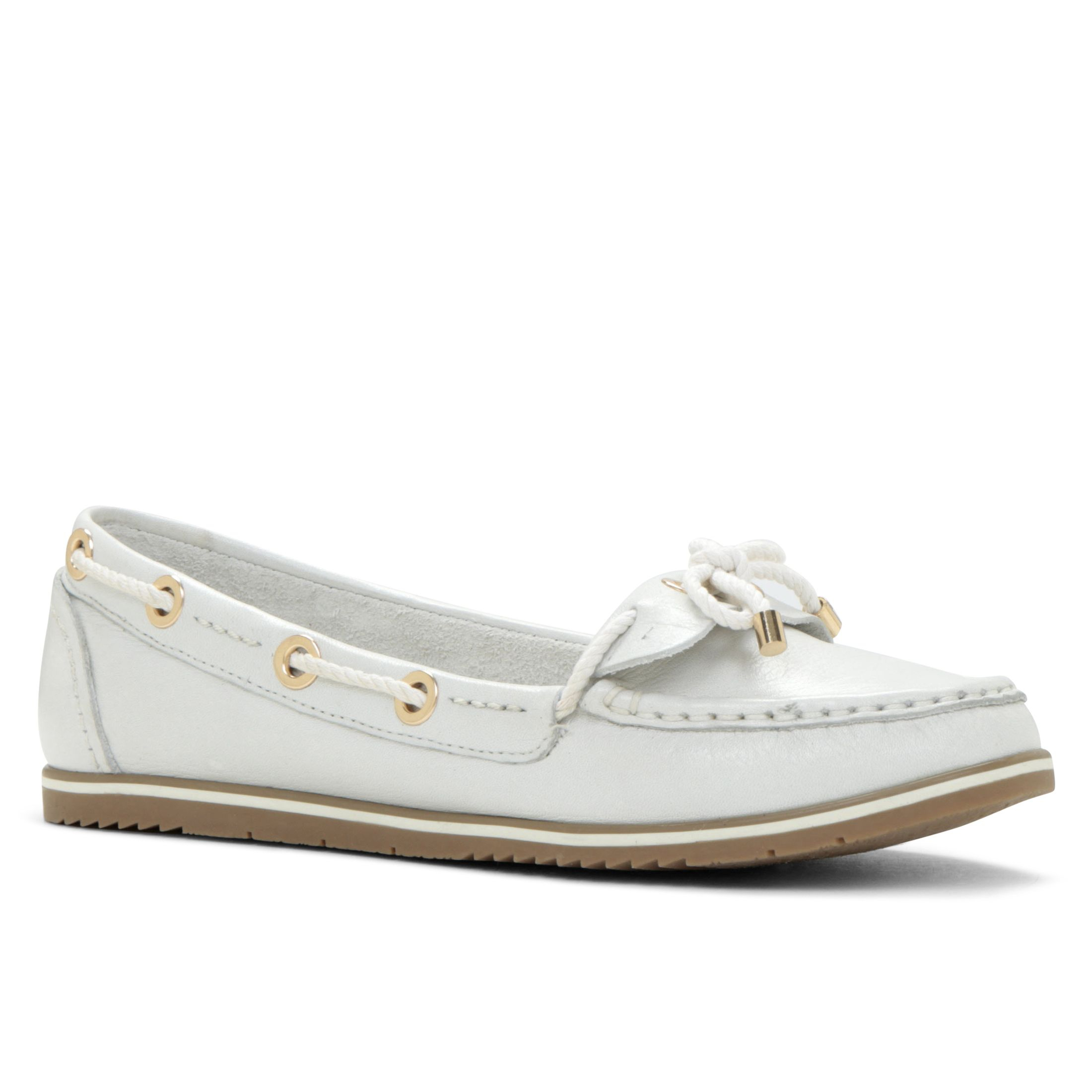 aldo maidens boat shoes loafers in white lyst
