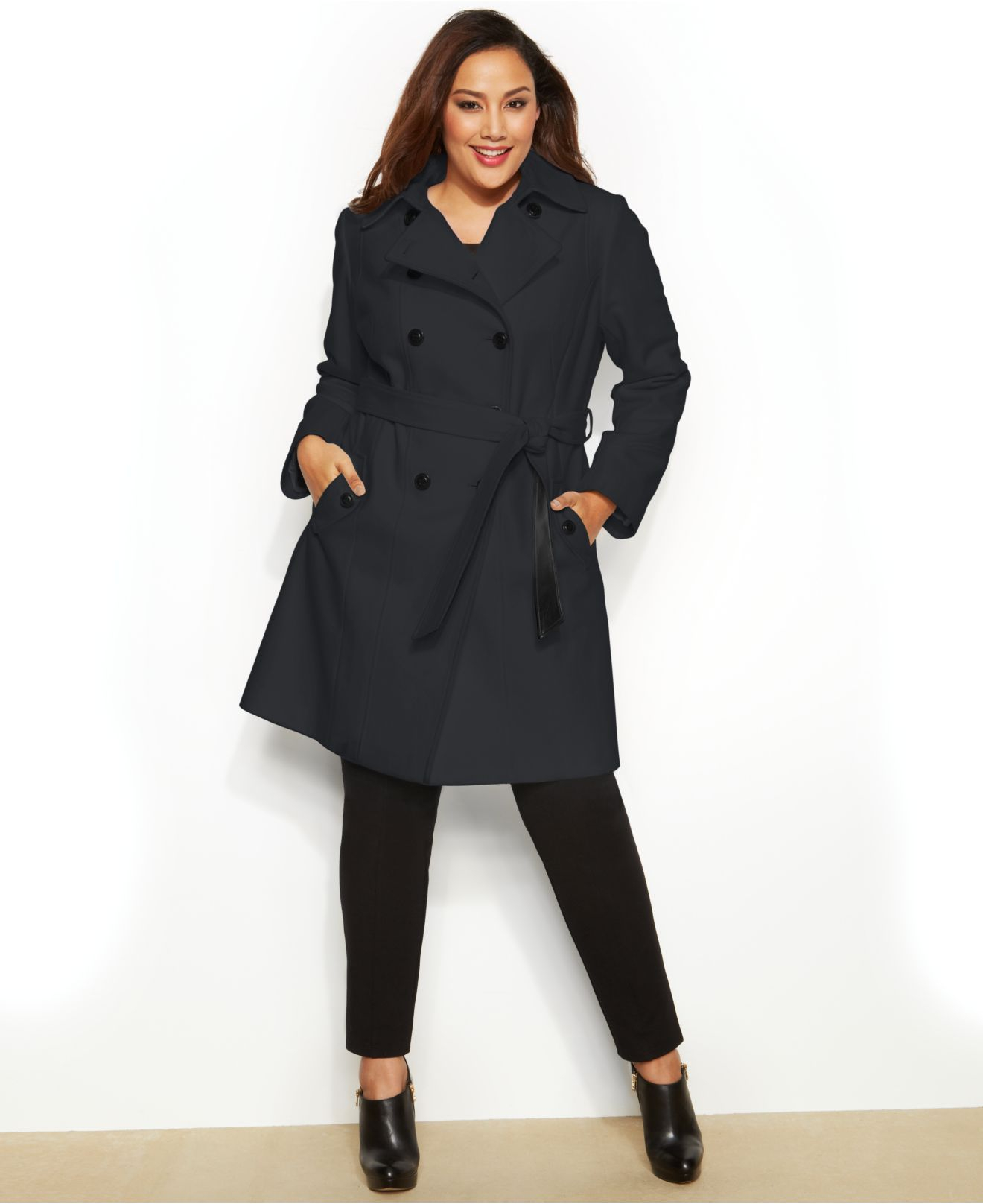 Plus size trench coat - results from brands Unique Bargains, Michael Kors, BGSD, products like Women's Totes Belted Spring Trench Coat, Pink, Size S, Women's White Mark Puffer Coat Red Coat (Large) , Ralph Lauren Plus Size Hooded Trench Coat - Cranberry 3X, Outerwear.