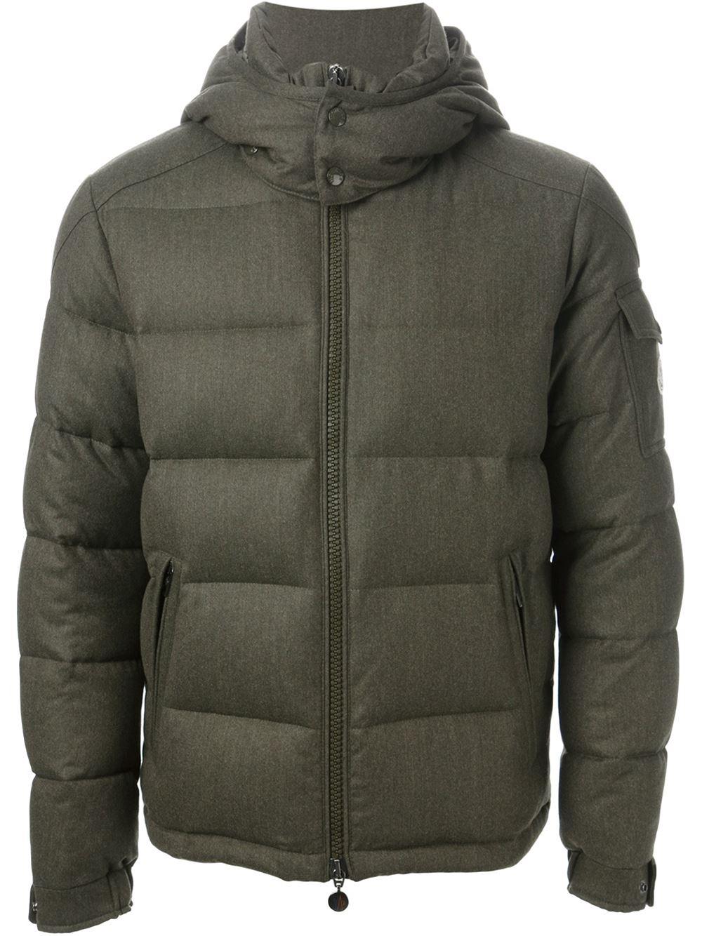 Moncler Montgenevre Padded Jacket in Green for Men | Lyst