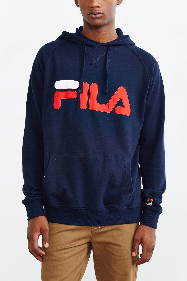 Fila Pullover Hoodie Sweatshirt in Blue for Men | Lyst