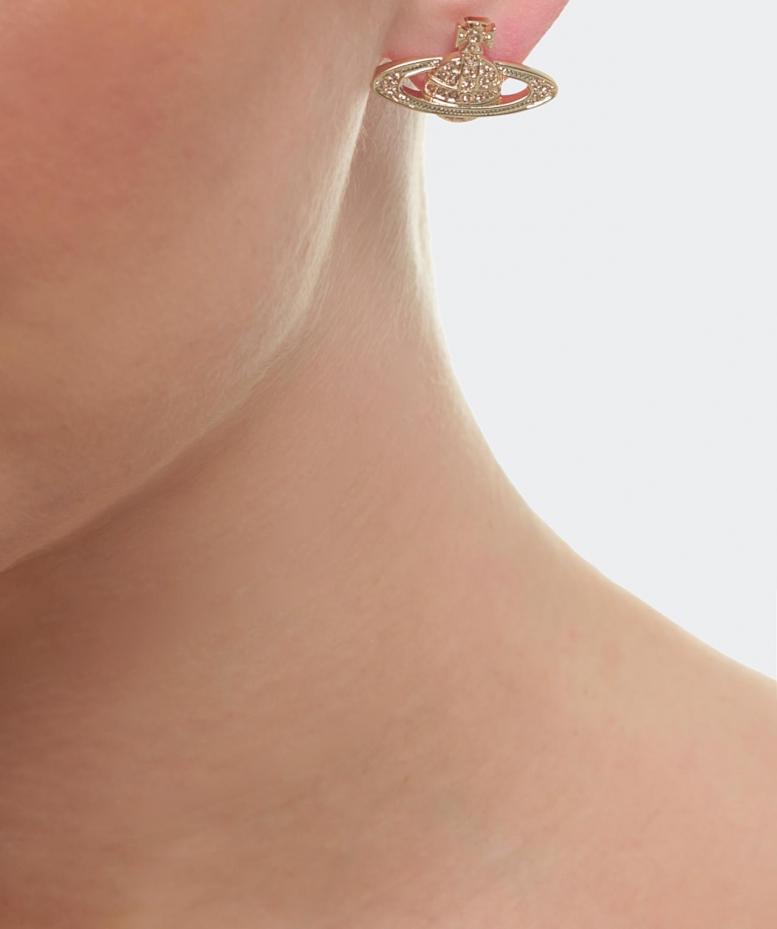 6eacea99aaf Vivienne Westwood Mini Bas Relief Earrings in Metallic - Lyst