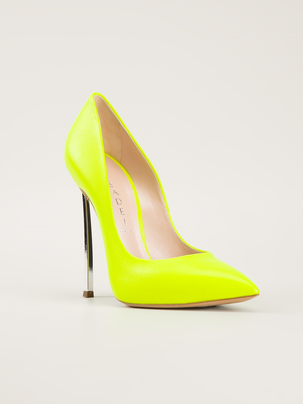 Casadei High Heel Pumps In Yellow Lyst