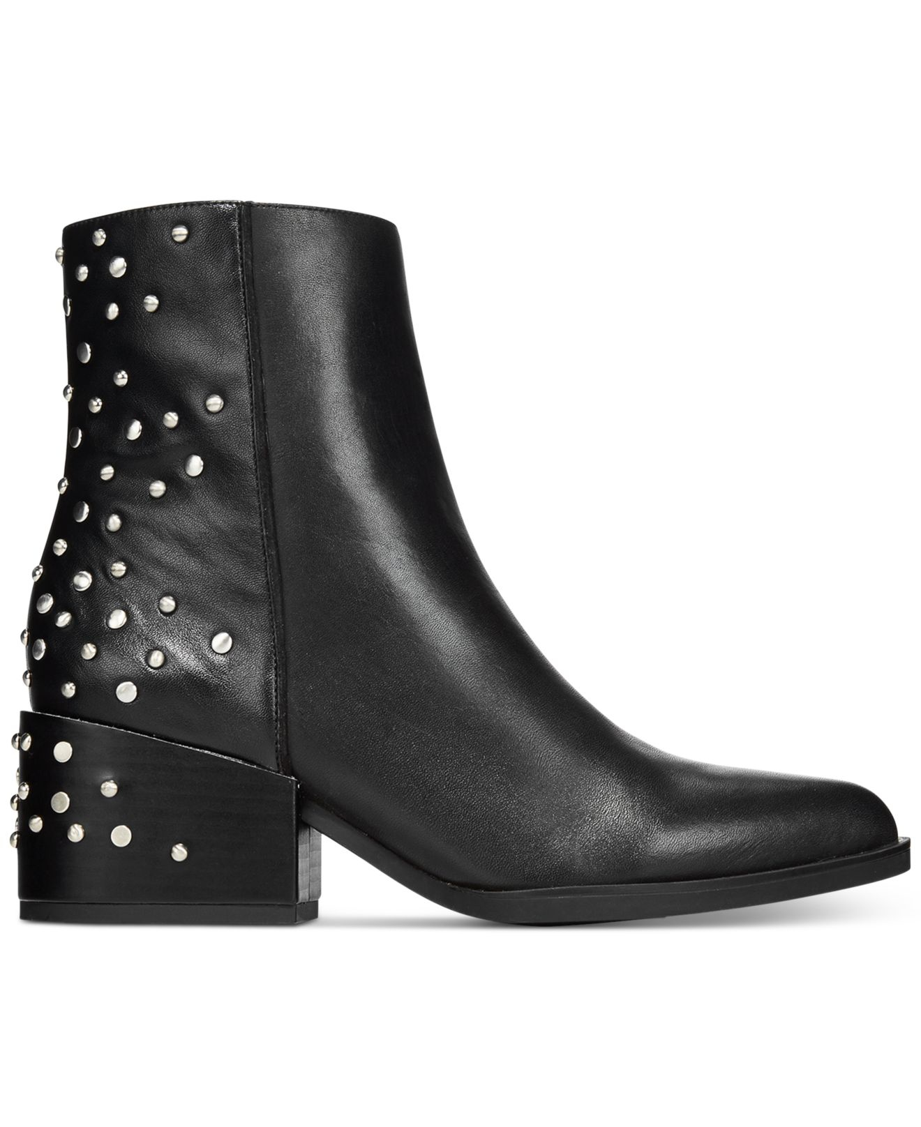 8faddf2b337a59 Lyst - Circus by Sam Edelman Rae Studded Booties in Black
